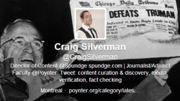 craig silverman follow friday