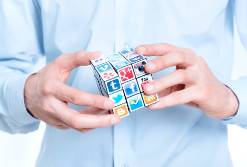 Social media training rubix cube