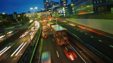 Look to road traffic at night