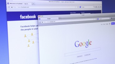Google and Facebook website