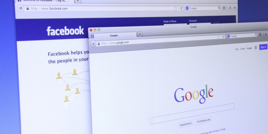 Google and Facebook website